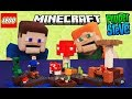 Minecraft LEGO The Mushroom Island 21129 Alex Cow 2017 Building Toy Unboxing Review Puppet Steve