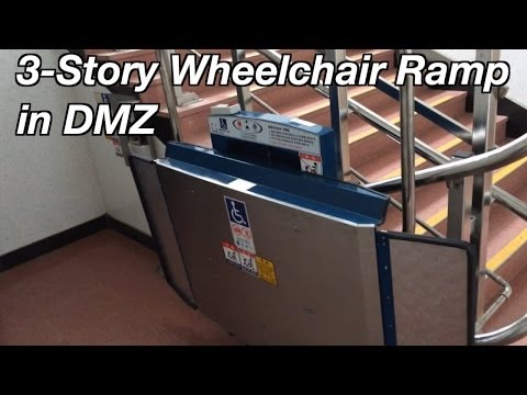 Korean Wheelchair Ramp for Stairs in the DMZ