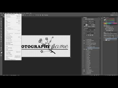 Turn Your Logo Into A Watermark Brush in Photoshop