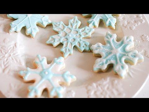 Frozen-Inspired Snowflake Cookies