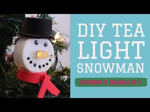 Tea Light Snowman DIY | Countdown Day 11