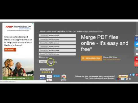 How To Merge Multiple PDF Documents Together Into One | Free Tool PDF Merge