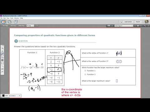 Comparing properties of quadratic functions given in different forms