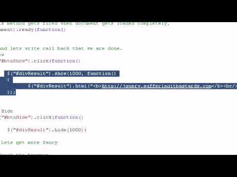 how to show and hide div using jquery