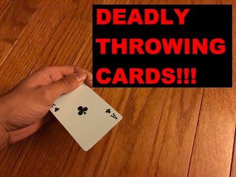 DEADLY throwing Cards!!!