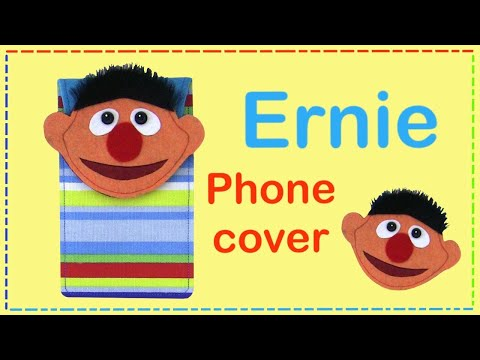 DIY Ernie phone cover case with free pattern  - Sesame Street