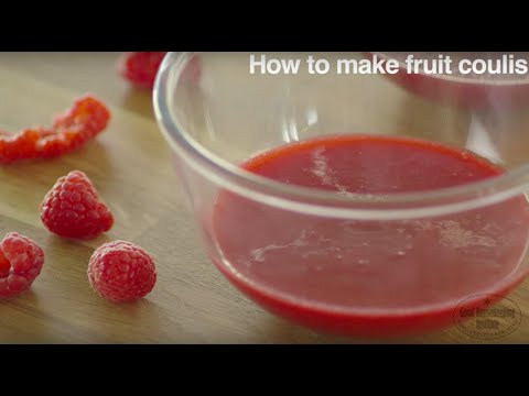 How to make fruit coulis