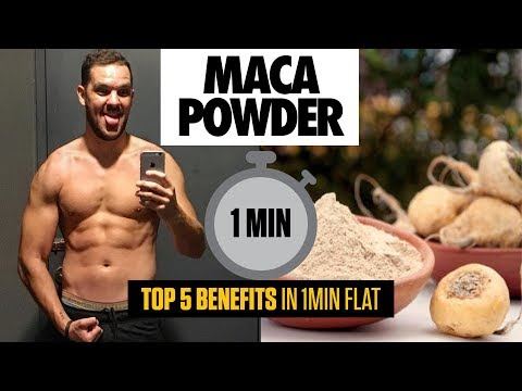 Maca Powder for Bodybuilding | Top 5 Benefits in 1 MINUTE