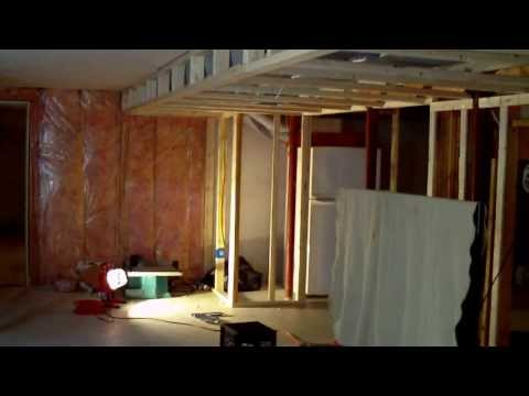 How to Build a Finished Basement with Ceiling Soffit Great Ideas Part 1