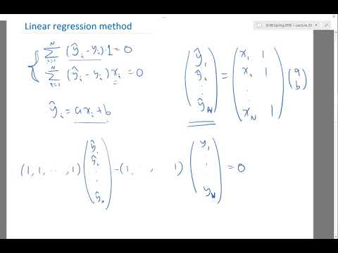 Linear regression method Part 4