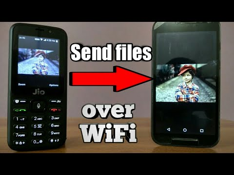 Jio Phone : send multiple files Over WiFi (Fast)