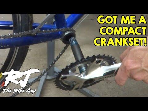 Installing Compact Crankset On DIY Cyclocross/Gravel Bike