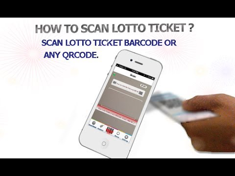 How to Scan Lotto Ticket and Scan QRCode