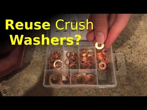 can you REUSE crush washers? (mechanics secret)