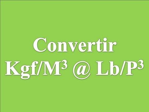 Convertir Kgf/m3 a Lb/ft3