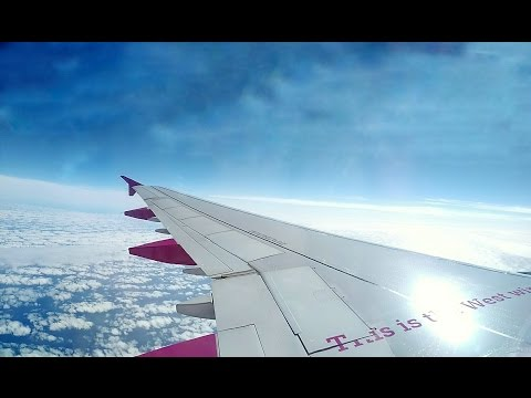 Wow Airlines Take-Off From Reykjavik Iceland to Boston, MA - Airbus A321