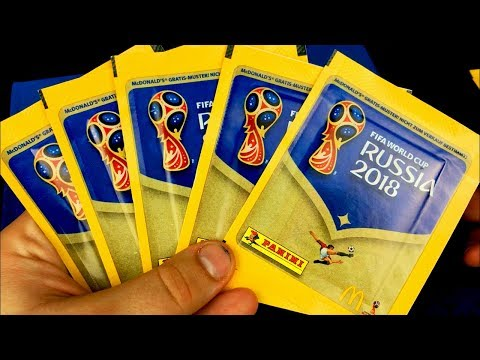 EXCLUSIVE McDONALD'S STICKERS!!! Panini World Cup 2018 Sticker Packopening