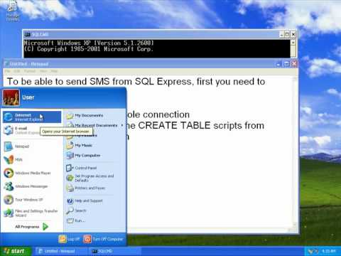 Setup Ozeki NG - SMS Gateway with Microsoft SQL Express - step 2