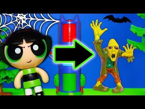 Powerpuff Girls Find Halloween Costumes in PJ Masks Transforming Tower