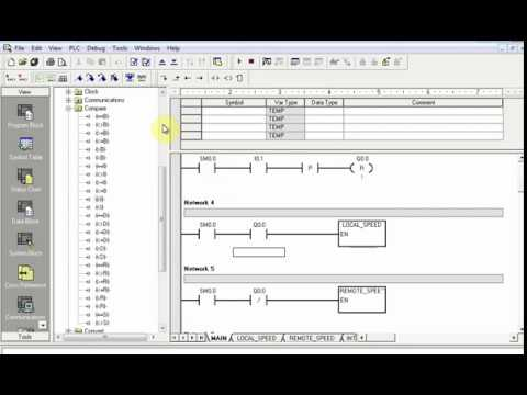 AC Motor Speed Control With PLC using Step7 Microwin Part2