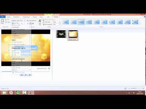 How to make a cool minecraft intro windows live movie maker