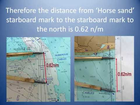 Measuring distance on a nautical chart