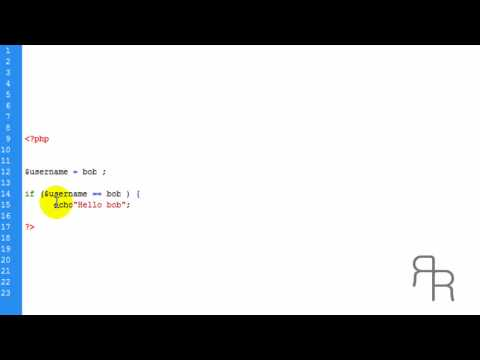 PHP tutorial (if statement and else statement)