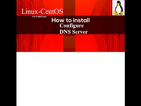 How to configure DNS server based on linux centos 7