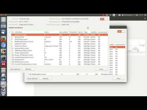 Check the Health Status of your Hard Drive in Ubuntu 16.04