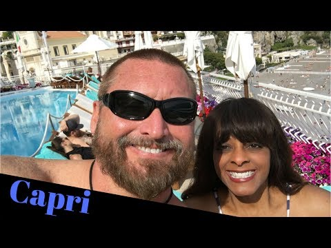 We took a ferry from Positano to Capri Italy and then hit the pool