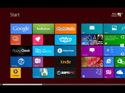 100 Windows 8 Tips and Tricks   5   How To Access PC Settings On The Metro Modern UI
