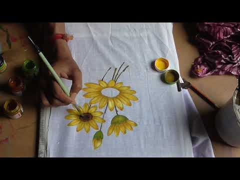 floral design | modern design |fabric paint | hand painting art | easy method | learn online classes