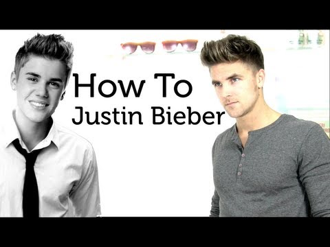 Justin Bieber hair style - tutorial how to style like Justin Bieber HDF hanz de fuko