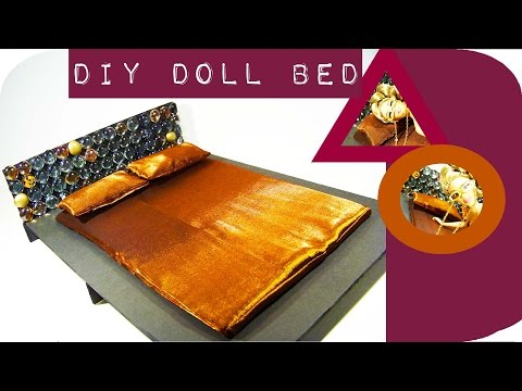 How To Make a Doll Bed    Make a Doll Bed Using Marbles