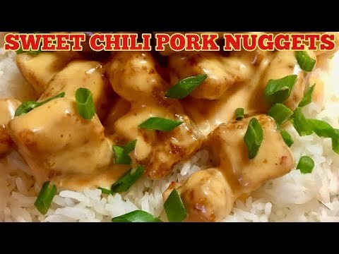Sweet Chili Pork Nuggets - How To Make The Bang Bang Sauce - Quick and Easy Pork Recipe For Dinner