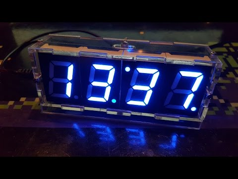 Building a DIY Digital Clock Kit with transparent case from eBay