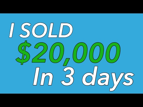 How I sold $20,000 on Amazon FBA in 3 days - Selling Books on FBA
