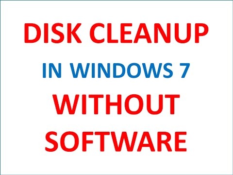 Disk Cleanup - Without Software