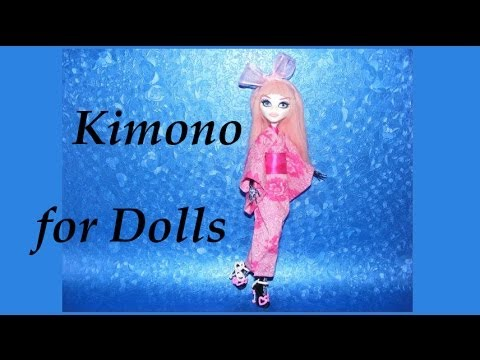How to make a Kimono for Dolls Tutorial DIY (part 2)