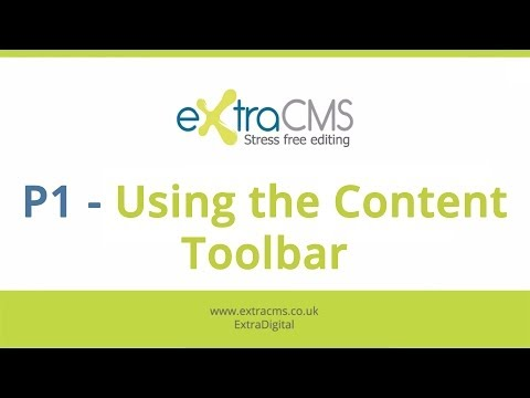 ExtraCMS - P1: Using the Content Toolbar
