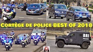 Voiture de Police Compilation Cortège + Convoi - BEST OF 2018 // Police Escort Motorcade Collection