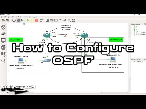 ✅ How to Configure OSPF on Cisco Router in GNS3 | OSPF Routing | SYSNETTECH Solutions