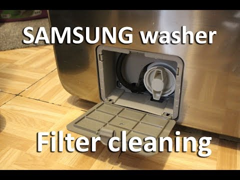 How to clean Samsung washer filter.