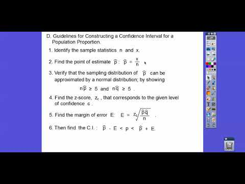 Confidence Intervals for Population Proportions - Section 6.3 (Part 1)