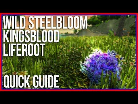 Quick Guide: Wild Steelbloom, Kingsblood, Liferoot Farming