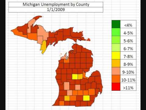 Michigan Unemployment By County October 2013