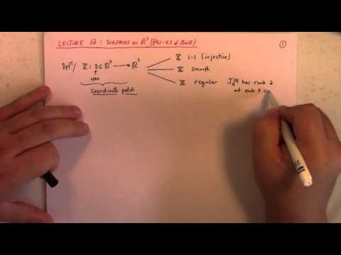 Differential Geometry: Lecture 12 part 1: surfaces in R3