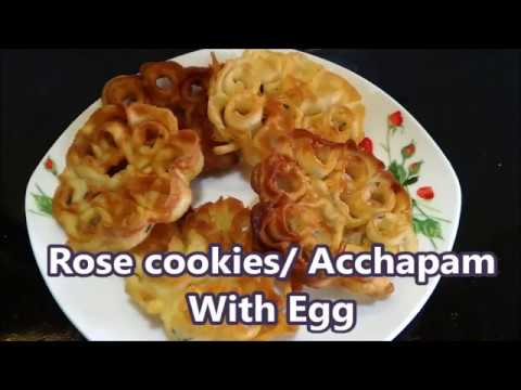 Rose Cookies With Egg / Achappam