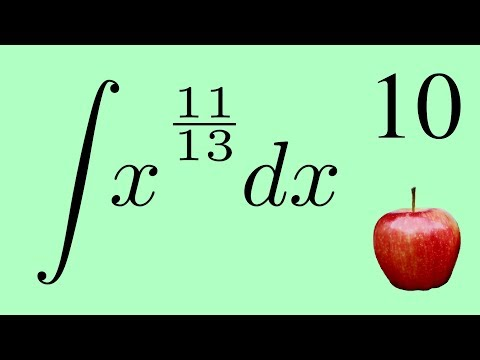 Calculus 2: The Integral of a Fractional Exponent by the Power Law
