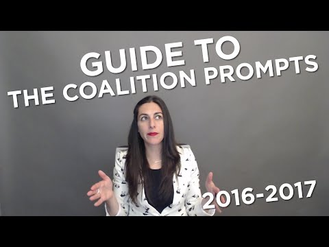 Guide to the 2016-17 Coalition Essay Prompts